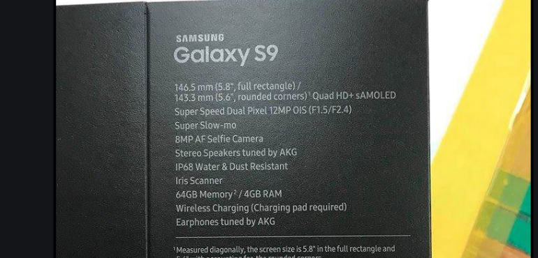 Samsung Galaxy S9 box leak
