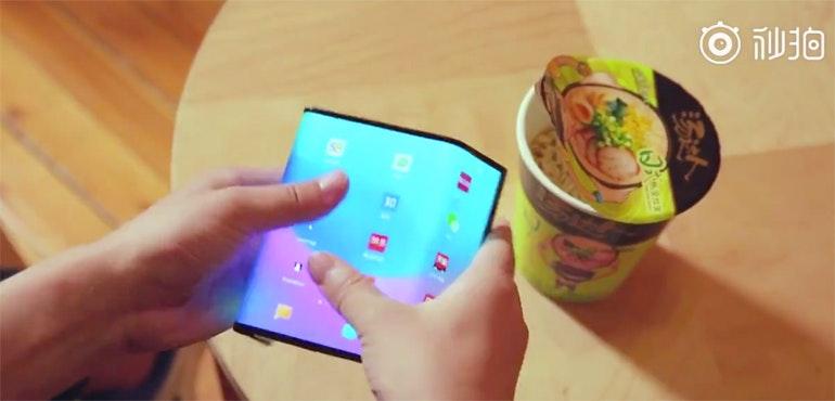 Watch this video of the Xiaomi Mi Fold folding phone