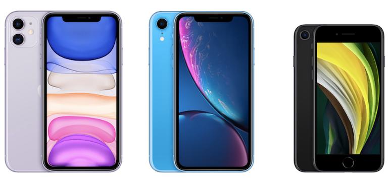 Apple iPhone 11 vs iPhone XR vs iPhone SE