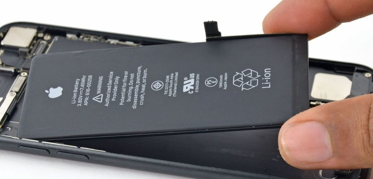 iPhone battery being replaced