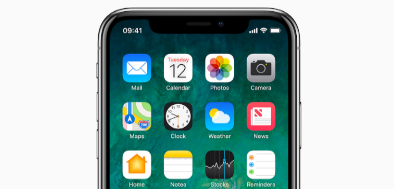 iPhone X app screen hero image