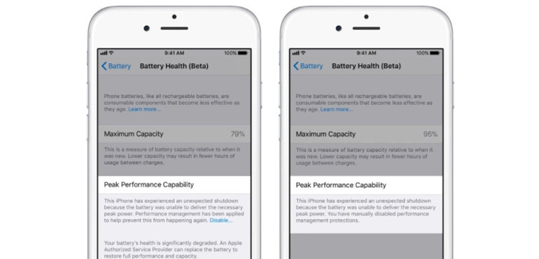 Apple reveals Battery Health feature for iPhone