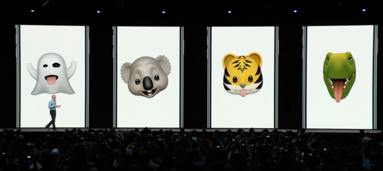 iOS 12 new emoji ghost, koala, tiger and t rex