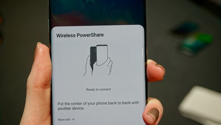 Samsung Galaxy S10 wireless powershare setup step 2