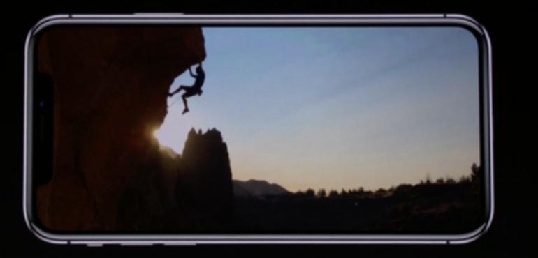 iPhone X screen hero