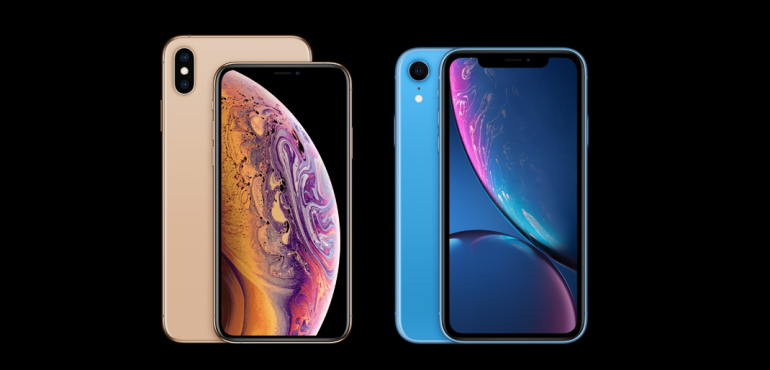 iPhone XS and XR front and back