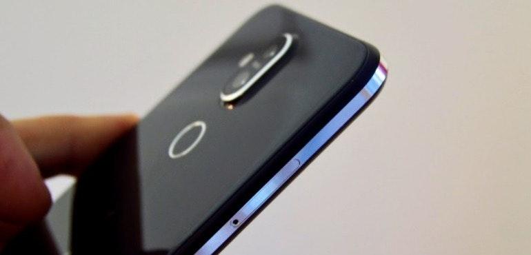 Nokia 8.1 back camera lens fingerprint closeup hero size