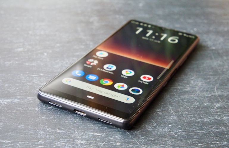 Sony Xperia L4 front lying