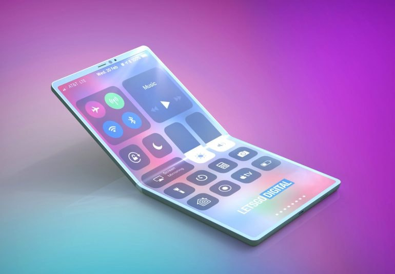 iPhone folding render