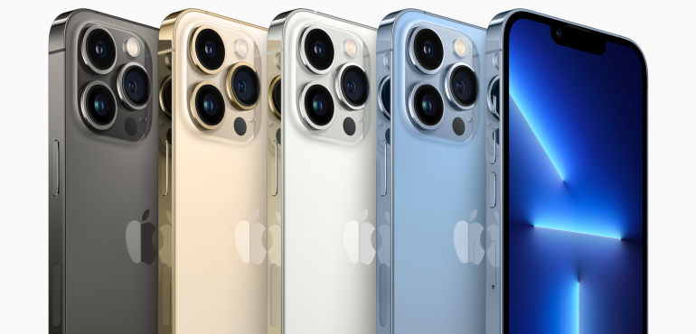 iPhone 13 Pro lineup all colours back and front hero image