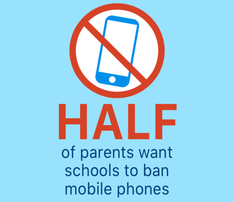 Parents want to ban smartphones in schools