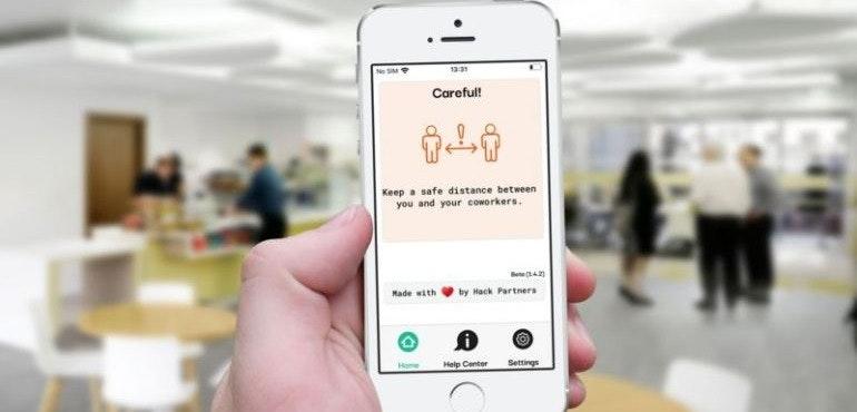 Mind The Gap app puts social distance between employees