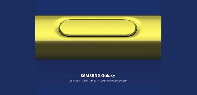 Samsung Galaxy Note 9 will launch on 9th August