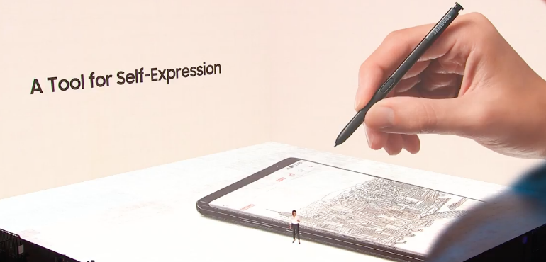 Samsung Galaxy Note 8 S pen stylus tool for self expression