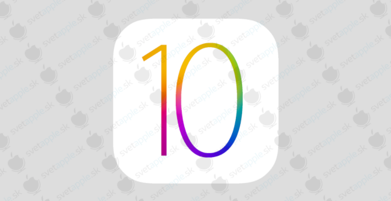 ios 10 logo mock up
