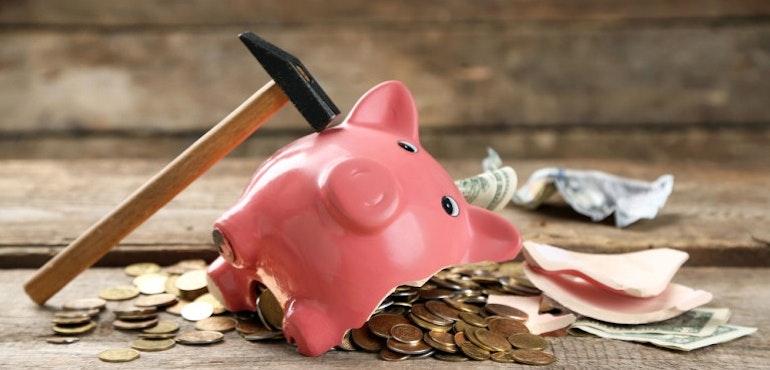Piggy bank savings expensive